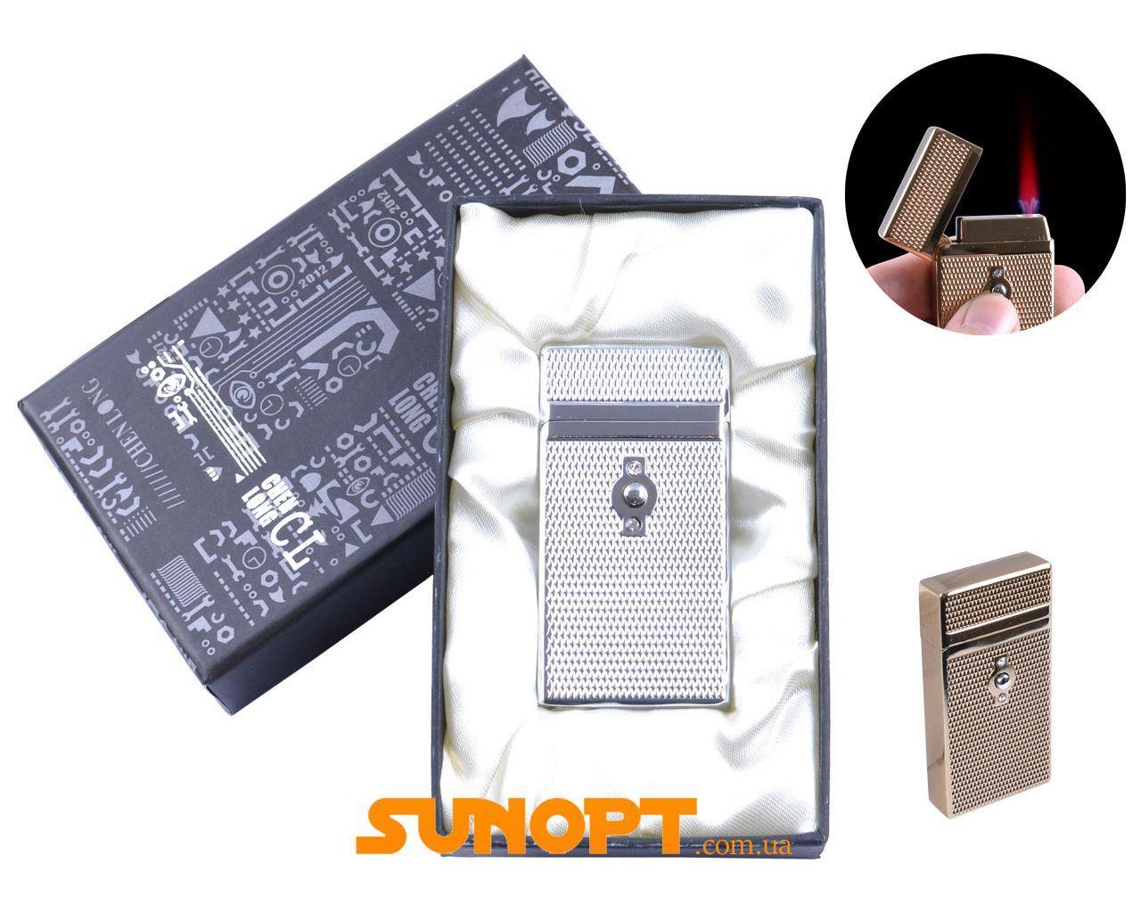 Зажигалка в подарочной упаковке CHEN LONG (Турбо пламя) №XT-4055 Silver