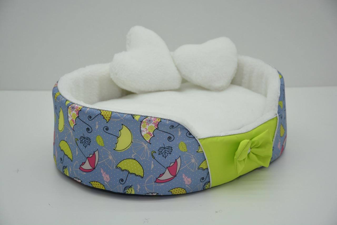 Лежак Фантазия для собак и котов на паралоне салатовый