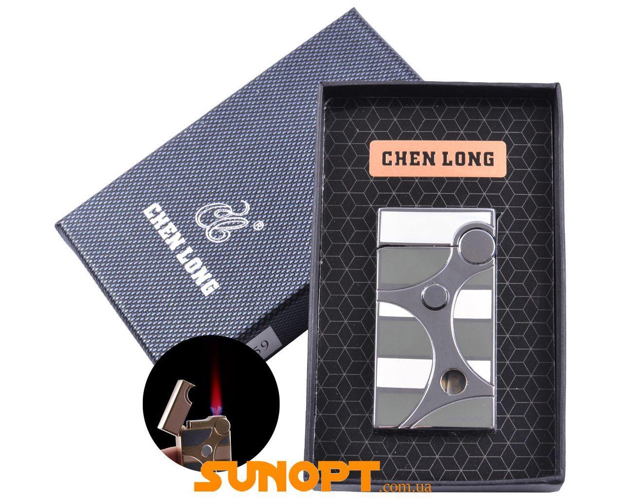 Зажигалка в подарочной упаковке CHEN LONG (Турбо пламя) №XT-4059 Silver