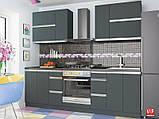 Кухня Альбина  (Vip master/Вип мастер) антрацит+белый , фото 5