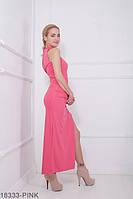 Элегантное приталенное платье с разрезом на ноге и вырезом на спине Desire