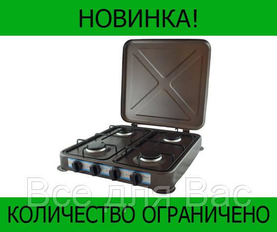 Газовая плита DOMOTEC MS-6604 Brown 4кф!Розница и Опт