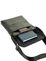 Мужская сумка планшет через плечо кожаный BRETTON BE 3547-3 black, фото 3