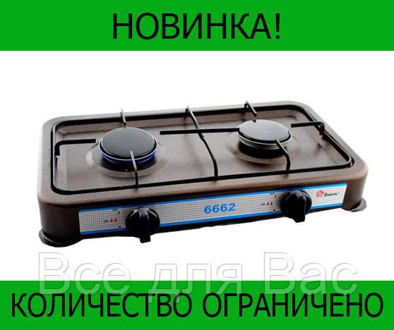 Газовая плита DOMOTEC MS-6662 Brown 2кф!Розница и Опт