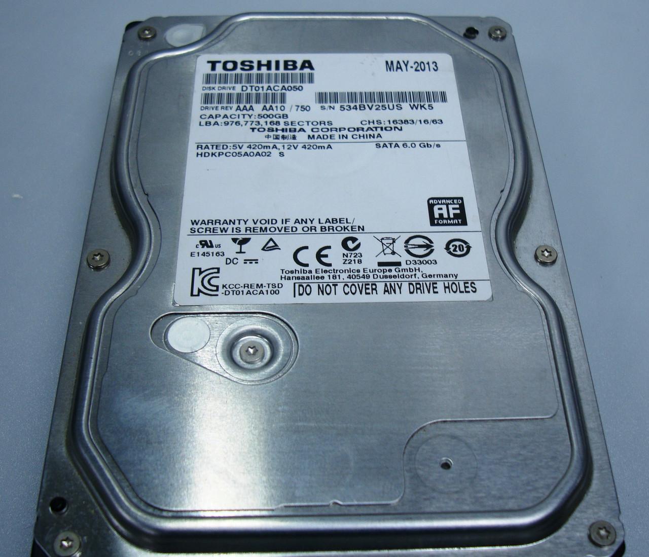 Жесткий диск Toshiba 500GB 7200rpm 32MB, 3.5 SATA III