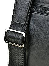 Мужская сумка планшет через плечо кожаный BRETTON BE 72970-1 black, фото 2