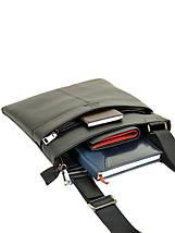Мужская сумка планшет через плечо кожаный BRETTON BE 72970-1 black, фото 3