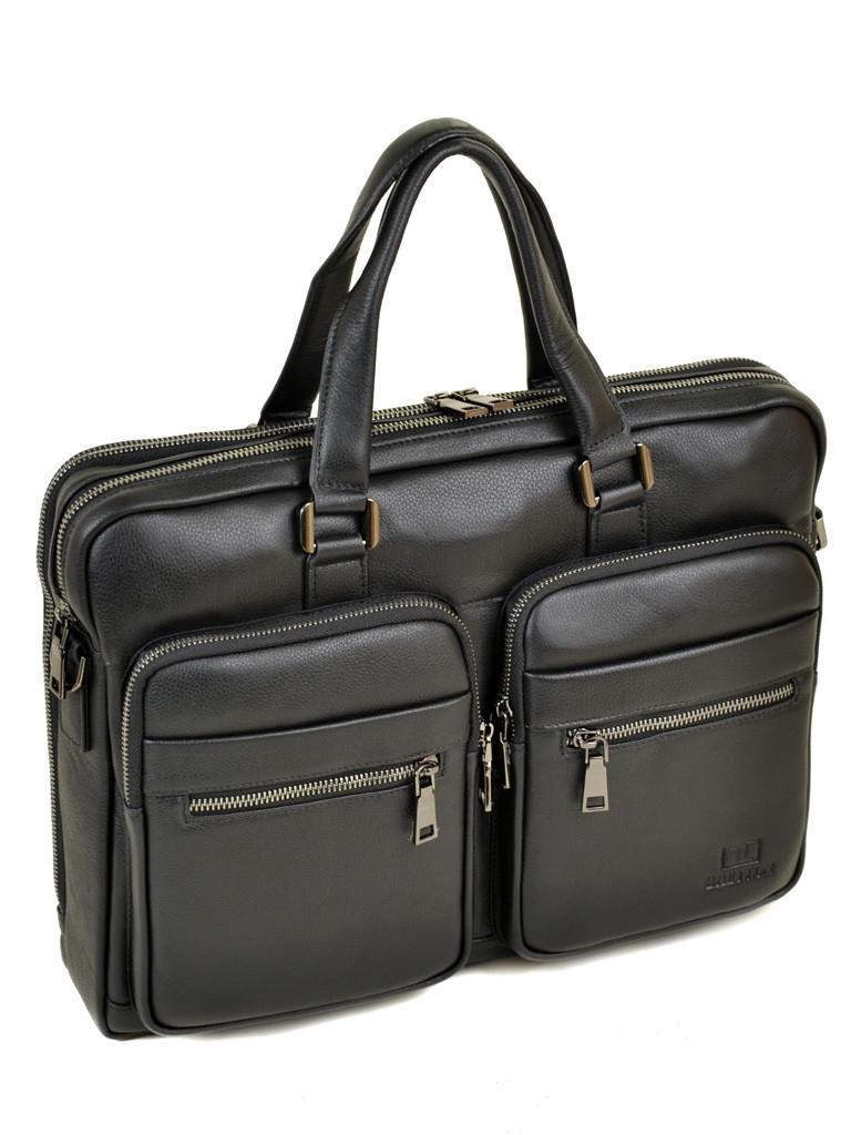 Сумка Мужская Портфель кожаный BRETTON BE 5359-1 black