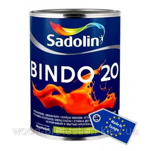 Миється напівматова фарба для стін і стелі Sadolin Bindo 20 2,5 л