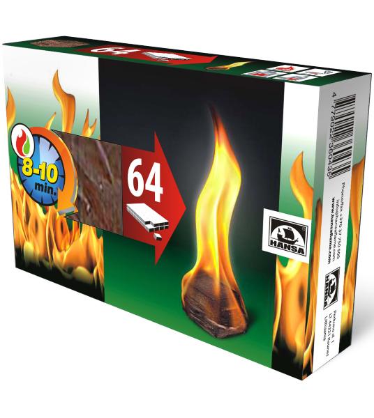 Разжигатель огня HANSA 64шт.