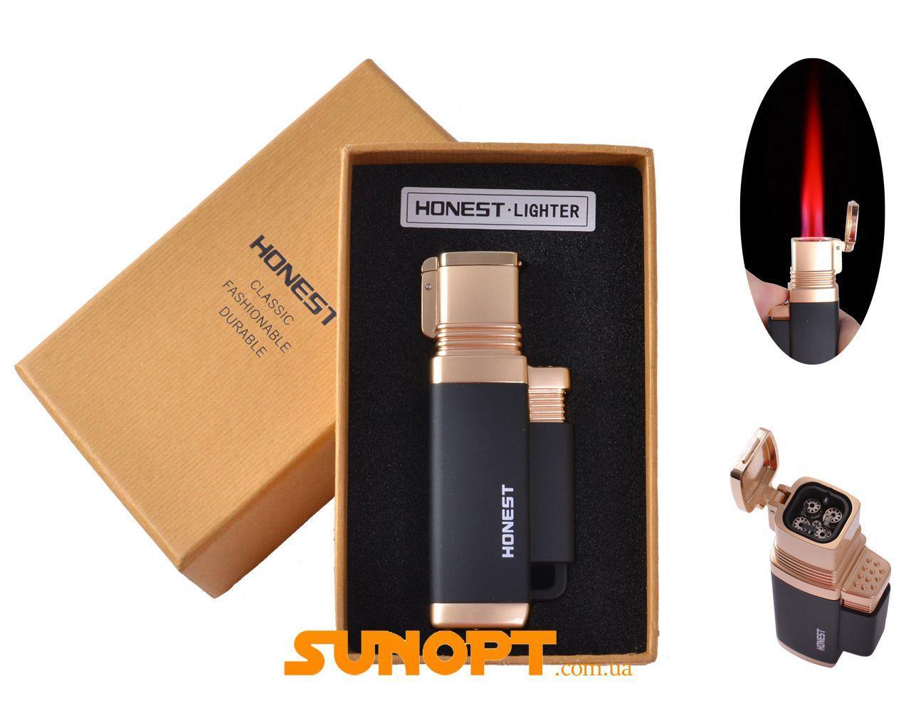 Зажигалка для сигар в подарочной упаковке Honest (Турбо пламя) №3883-3