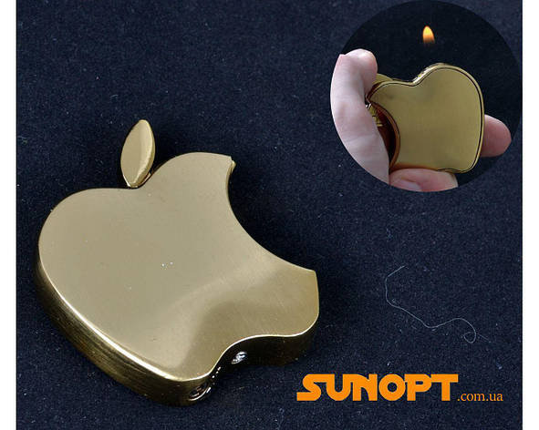 "Зажигалка карманная ""Apple"" №3813 Gold, фото 2"