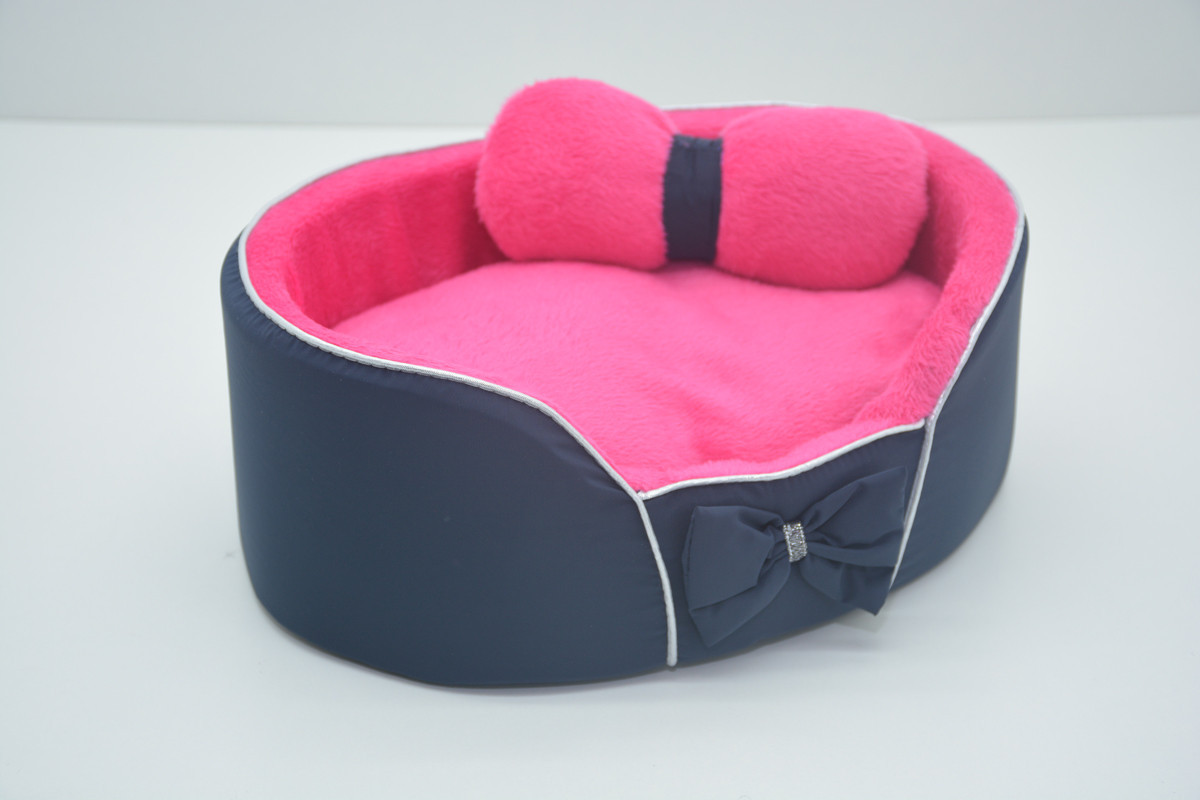 Лежанка для собак и кошек VIP Плюш синяя №0 260х370х100