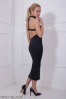 Соблазнительное приталенное платье с чокером и открытой спиной  Victoria