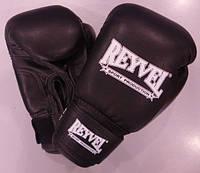 REYVEL  Перчатки боксёрские  винил ( искусственная кожа)          12 унций ЧЕРНЫЕ