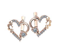Золотые серьги Сердце Венеции