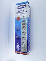 Сетевой фильтр-удлинитель SVITTEX SV-002 3м, 5 розеток, 2.2кВт