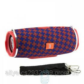 Портативная колонка JBL Charge 3+ mini copy с ремнем красно - синяя