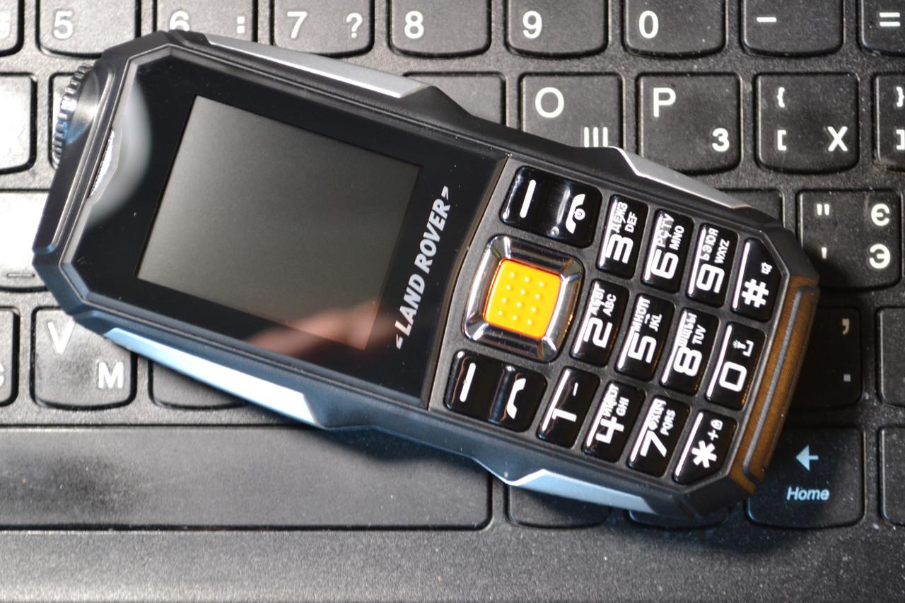 Противоударный телефон LAND ROVER L9 - 2 sim, батарея 3800 mah, камера 2 Mp, русская клавиатураОплата на почте