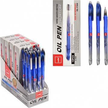 Ручка масляная «OIL PEN» Cello  синяя 1 упаковка (12 штук), фото 2