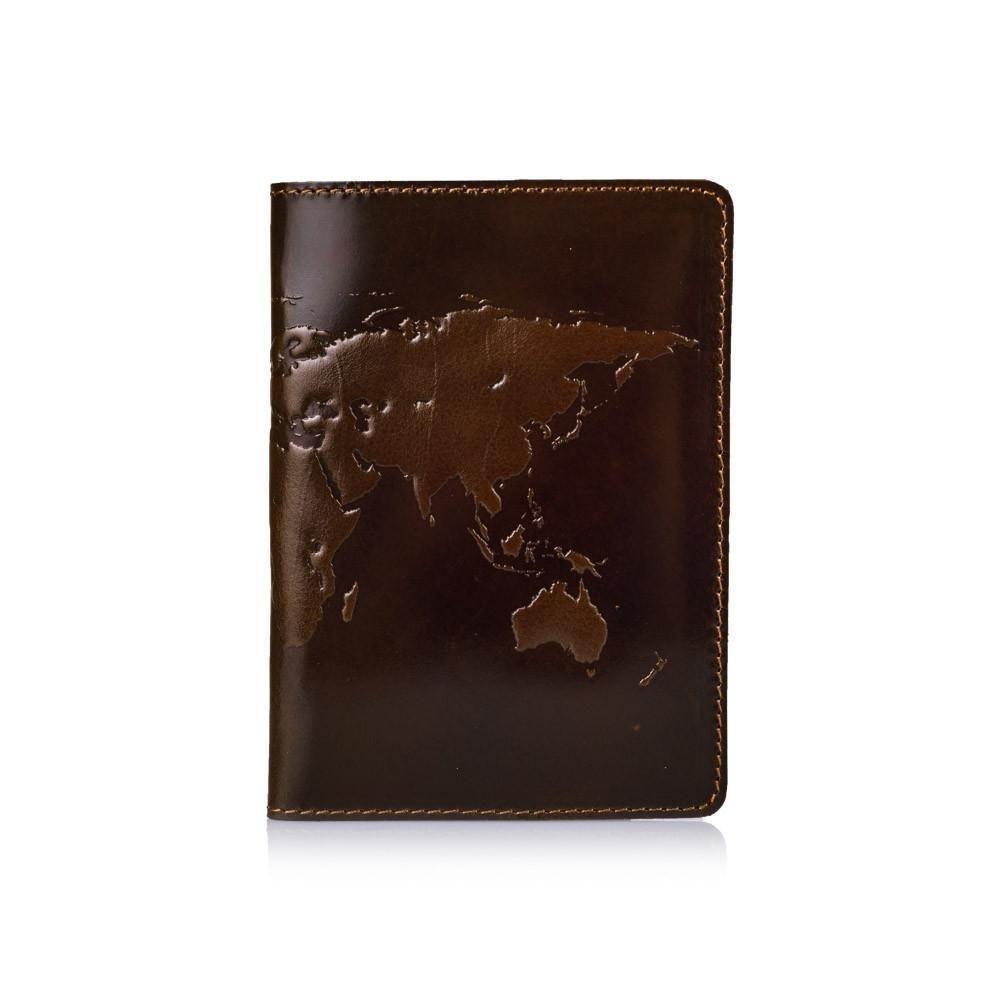 Обложка для паспорта HiArt Crystal Olive World Map