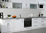 Кухонный фартук Текстура 02, (полноцветная фотопечать, наклейка на стеновую панель кухни, плитка, под кирпич) 600*2500 мм