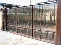 Ворота автоматические кованные откатные, фото 1