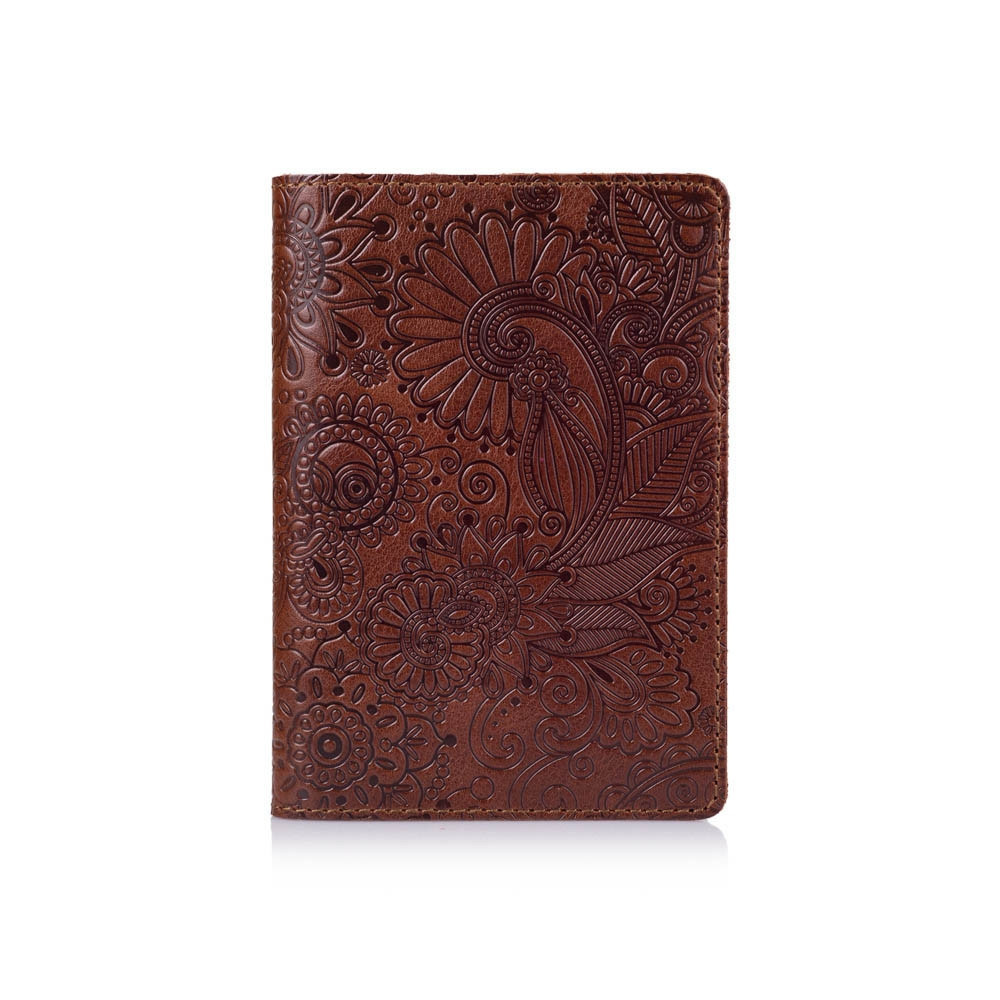 Обложка для паспорта HiArt Crystal Сognac Mehendi Art