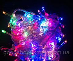 Новогодняя гирлянда светодиодная разноцветная LED 100 M-1 RGB
