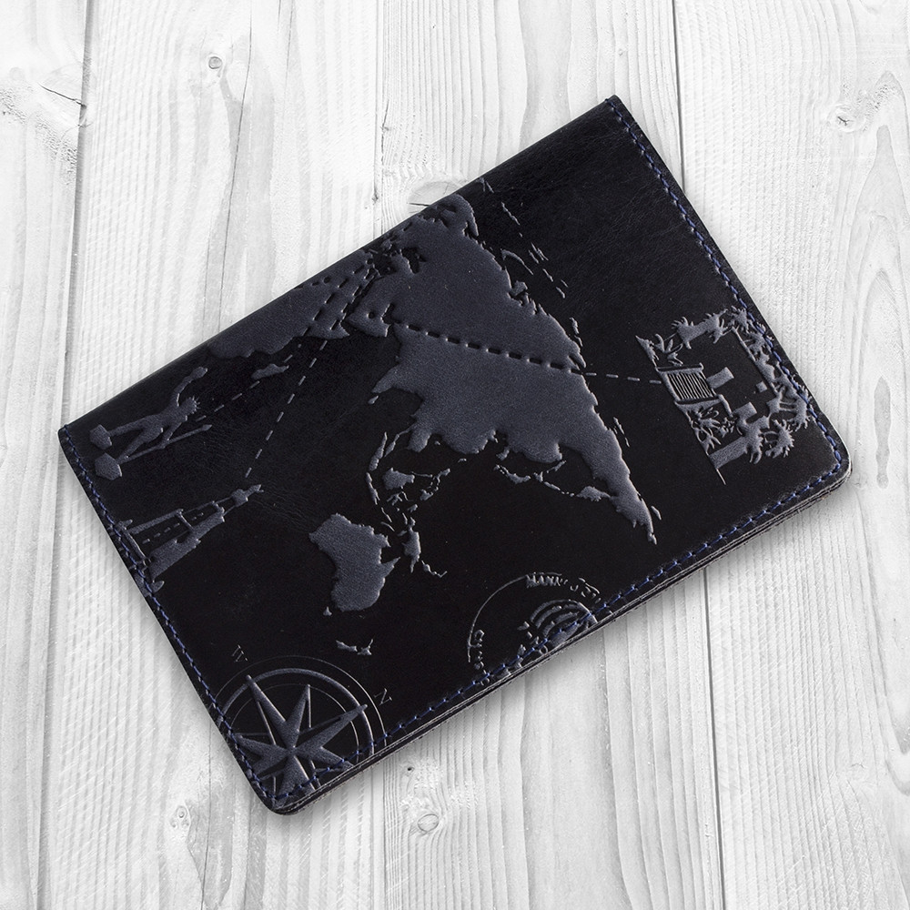 Обложка для паспорта HiArt Shabby Ink 7 wonders of the world