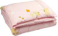 """Одеяло детское зимнее силиконовое 105х140 см розовое ТМ """"Руно"""""""