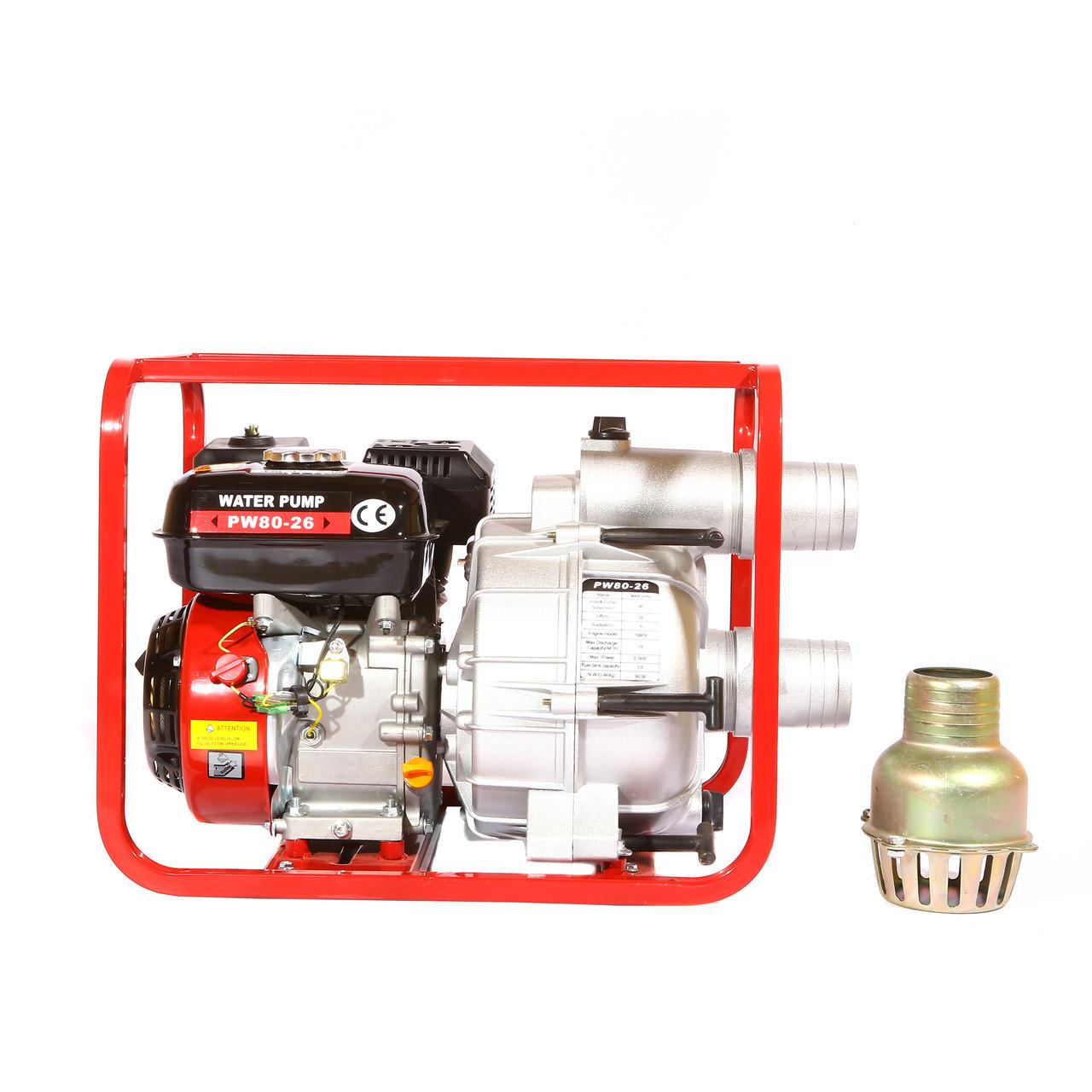 Мотопомпа WEIMA WMPW80-26 для грязной воды (78 куб.м/час)