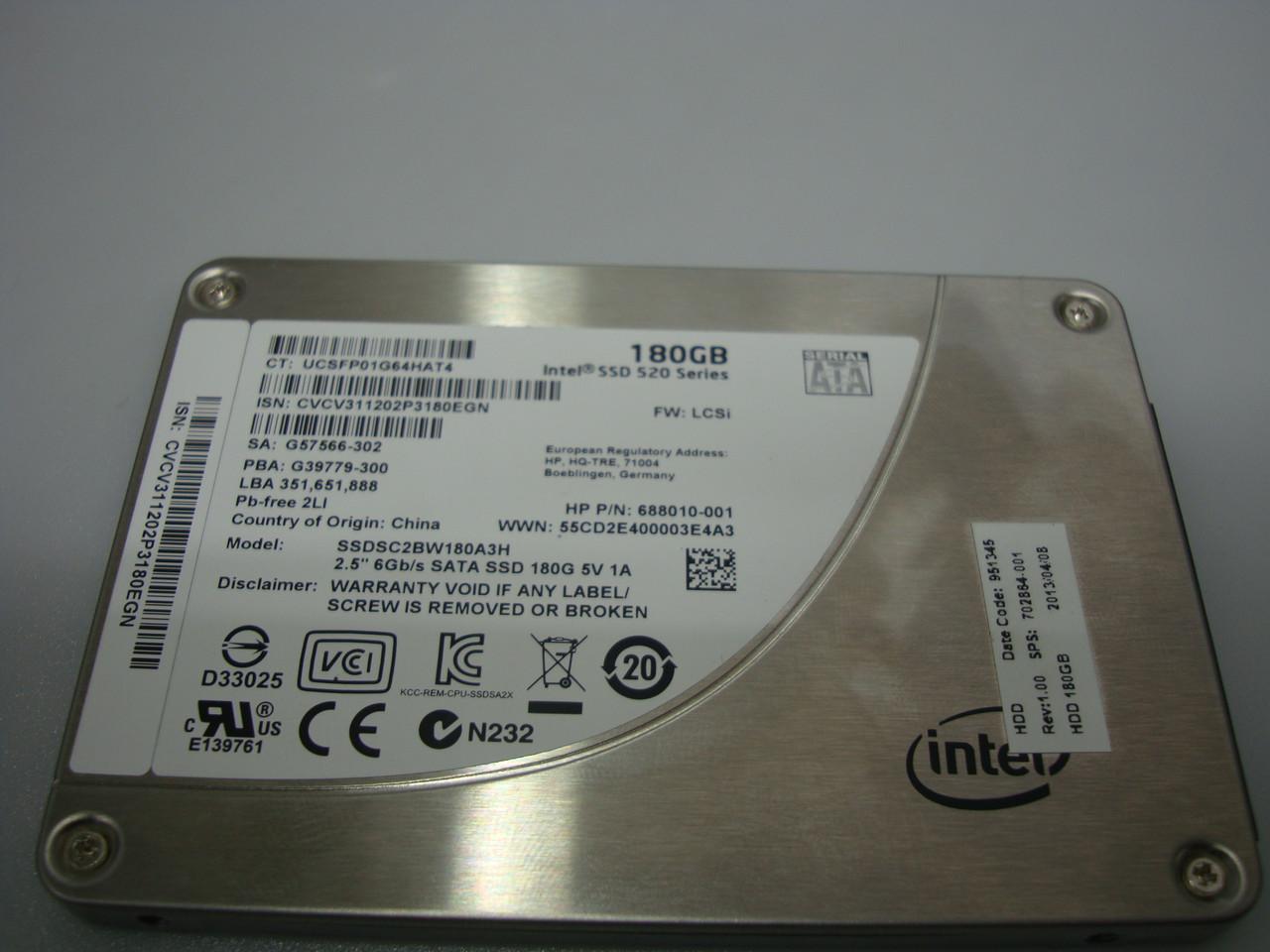 "SSD Intel 520 180GB 2.5"" SATA III MLC Отличное состояние"