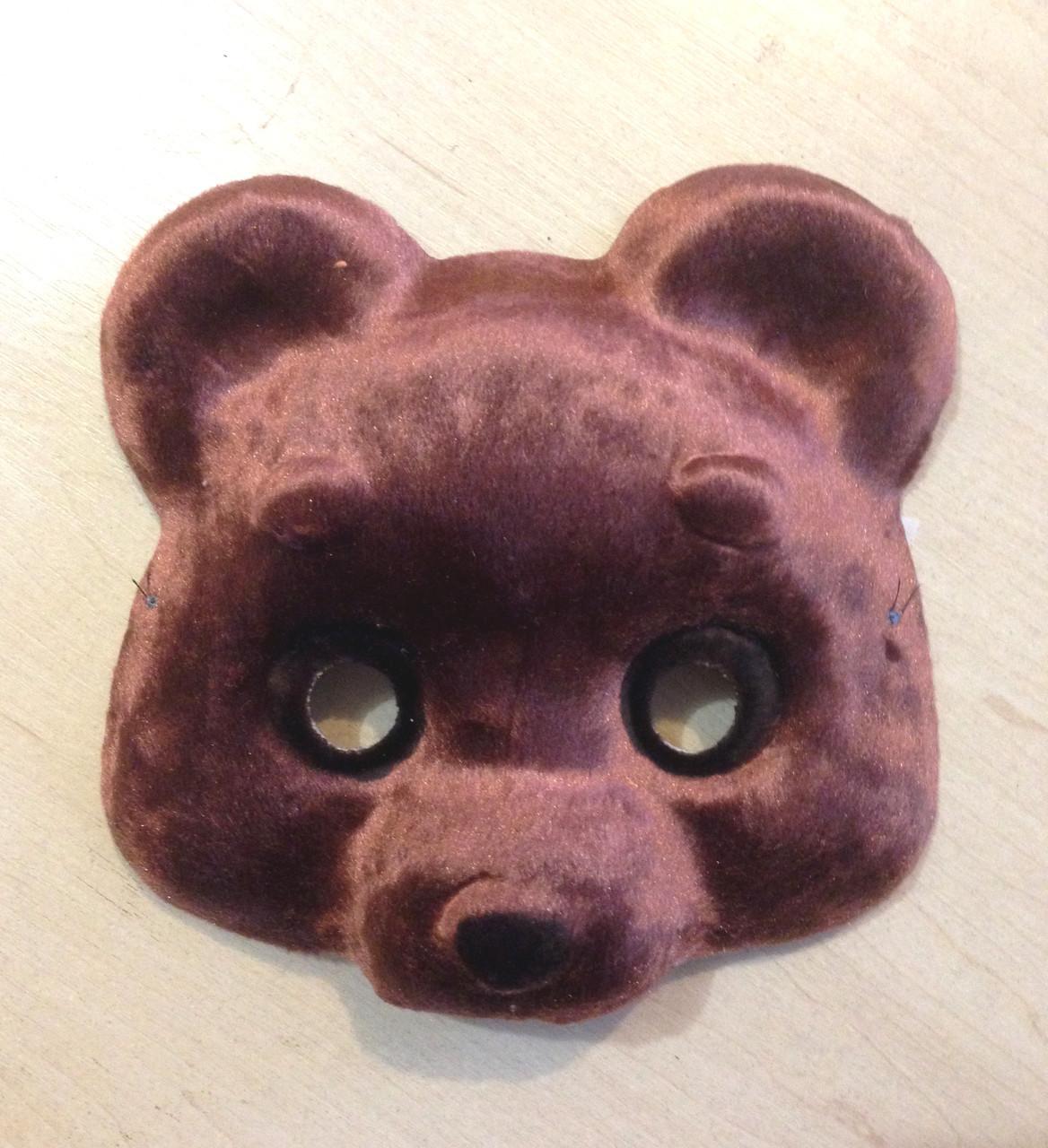 Маска карнавальная Bonita детская Медвежонок темно-коричневая