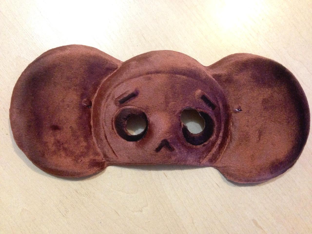 Маска карнавальная Bonita детская Чебурашка темно-коричневая