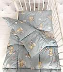 """Нежный детский комплект одеяло и подушка принт """"Мишки"""", фото 2"""