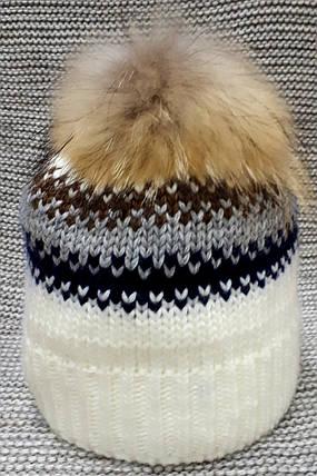 Шапка на девочку зима молочного цвета Olta (Украина) размер  52 54 , фото 2