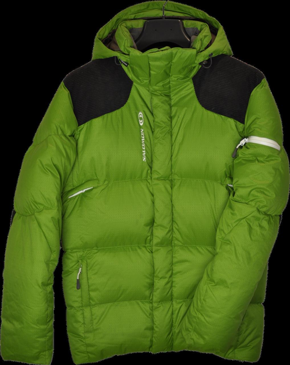 Очень теплый мужской зимний горно-лыжный пуховик Salomon.