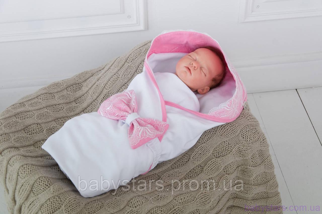 """Летние детские пледы конверты """"Изысканность"""", розовый"""
