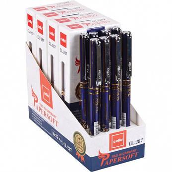 Ручка масляная «Papersoft» Cello  синяя 1 упаковка (12 штук), фото 2