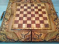 Настольная игра 3в1 нарды шашки шахматы резные