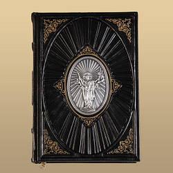 Библия с иконой (книга в коже)