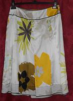 Юбка -клеш  из ткани в цветы