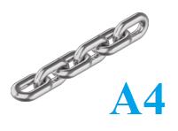 Цепь нержавеющая короткозвенная 4мм А4 DIN 766 (бухта 50 м.п.)