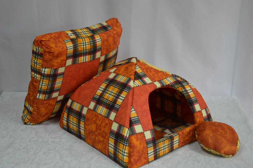 Домик юрта для котов и собак бязь №2 460х460х350