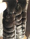 """Хутряна жилетка з штучного хутра ( еко хутро ) ( штучний песець ) """"Моніка"""" 90 см, фото 7"""
