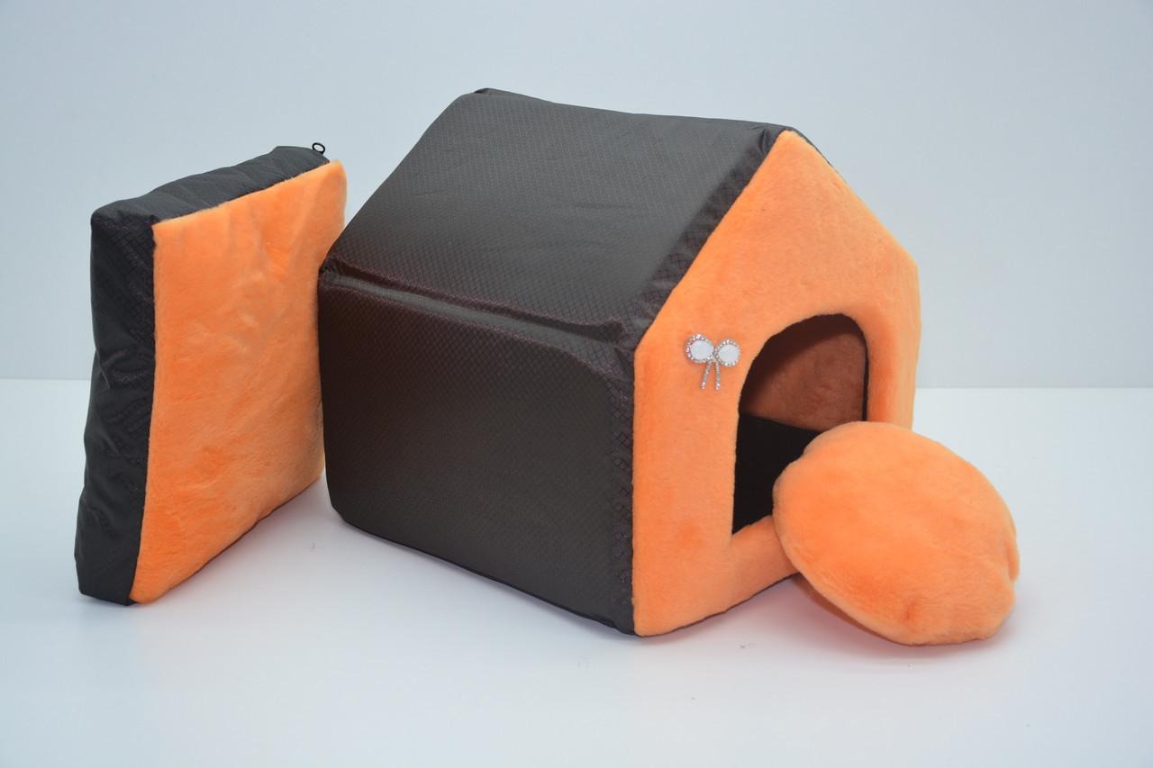 Домик для котов и собак Мех-2 №3 385х480х430