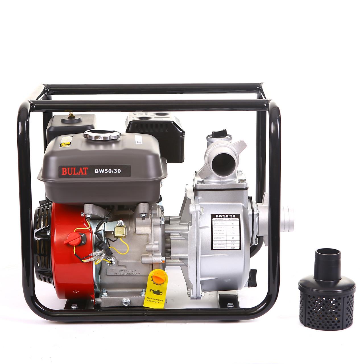 Мотопомпа BULAT BW50-30 (50 мм, 28 куб.м/ч) (Weima 50-30)
