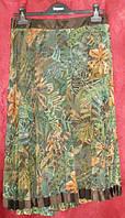 Юбка -плиссе из цветной сетки