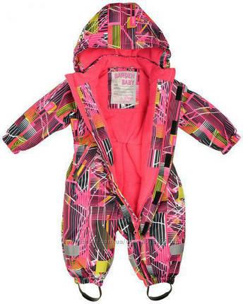 Термо-комбинезон Garden Baby для девочки малиновый размеры 98, фото 2